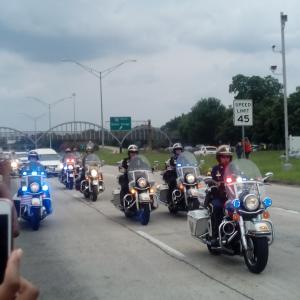 Funeral Procession of City Police Officer Gerald Mathew.